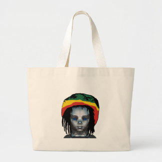 Grand Tote Bag Robotique Rastafarian