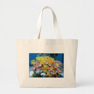 Grand Tote Bag roche de fleur de fond sous-marin