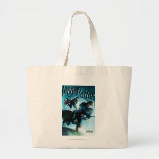Grand Tote Bag Ron et Ginny sur les balais 1