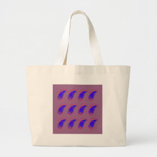 Grand Tote Bag Rose bleu de paisleys de conception d'Ethno