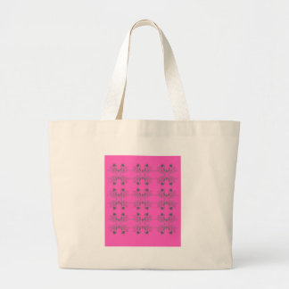 Grand Tote Bag Rose d'éléments de conception