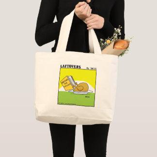 Grand Tote Bag Rôti drôle Turquie habillant la bande dessinée de