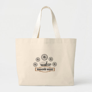 Grand Tote Bag roues occidentales d'ot de chariots