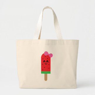Grand Tote Bag rouge-glace-bruit