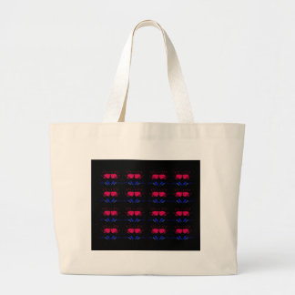 GRAND TOTE BAG ROUGE NOIR DE TULIPES