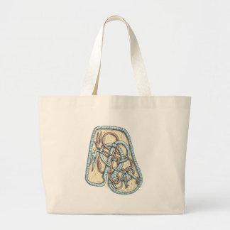 Grand Tote Bag Runestone (bleu)