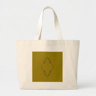 Grand Tote Bag Sable de beige de mandala