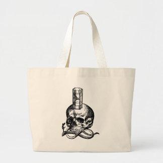 Grand Tote Bag Sablier de serpent de crâne