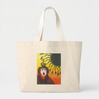 Grand Tote Bag Sacrifice à Dieu de serpent solaire