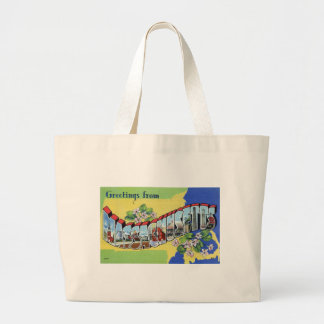 Grand Tote Bag Salutations du Massachusetts