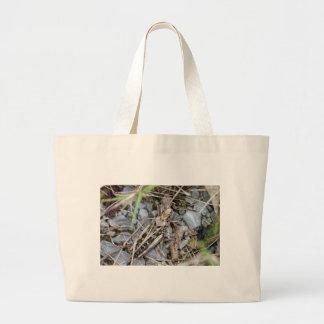 Grand Tote Bag Sauterelle camouflée