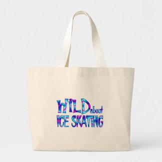 Grand Tote Bag Sauvage au sujet du patinage de glace