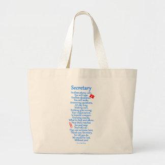 Grand Tote Bag Secrétaire Merci
