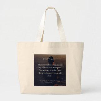 Grand Tote Bag Sensation d'étudiants d'aide de professeurs