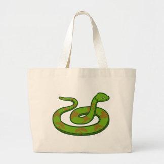 Grand Tote Bag Serpent vert
