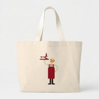 Grand Tote Bag Serveur de vin