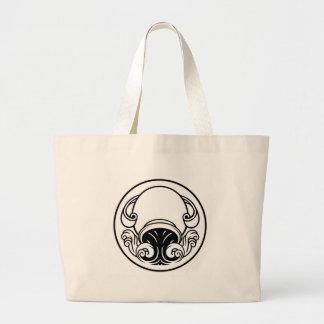 Grand Tote Bag Signe de naissance d'horoscope de Verseau
