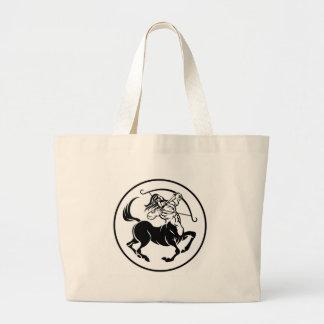 Grand Tote Bag Signe d'horoscope de zodiaque de centaure de