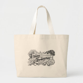 Grand Tote Bag Signe végétal de produit de bon thanksgiving