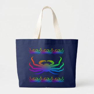 Grand Tote Bag Silhouette de crabe de Chinonoecetes Opilio