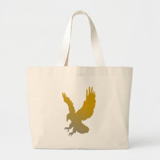 Grand Tote Bag Silhouette d'Eagle d'or