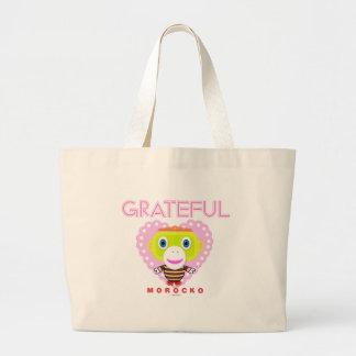 Grand Tote Bag Singe-Morocko Reconnaissant-Mignon