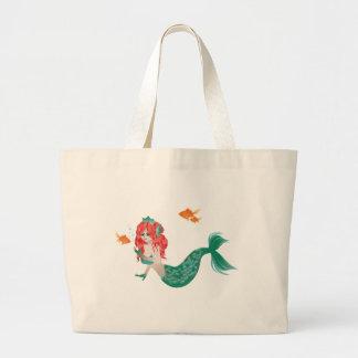 Grand Tote Bag Sirène d'une chevelure rouge 2