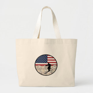 Grand Tote Bag Ski Amérique