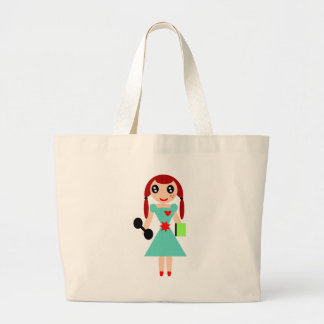 Grand Tote Bag Smart a adapté la fille