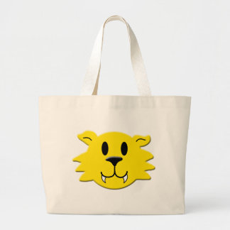 Grand Tote Bag Smiley de loup-garou