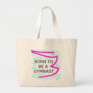 Grand Tote Bag Soutenu pour être un gymnaste