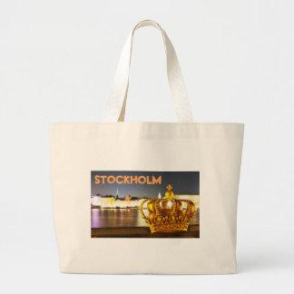 Grand Tote Bag Stockholm, Suède à Noël la nuit