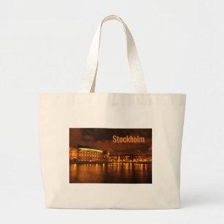 Grand Tote Bag Stockholm, Suède la nuit