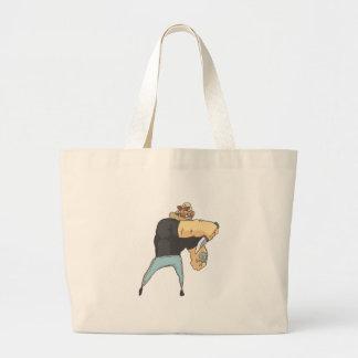Grand Tote Bag Style de attaque de bandes dessinées décrit par
