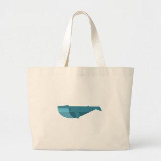 Grand Tote Bag Style de primitif de baleine bleue
