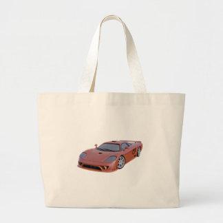 Grand Tote Bag Supercar en rouge