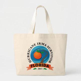 Grand Tote Bag Survivante d'Irma d'ouragan de la Floride