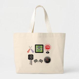 Grand Tote Bag symboles de voiture