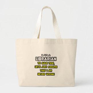 Grand Tote Bag T-shirts et cadeaux drôles de bibliothécaire
