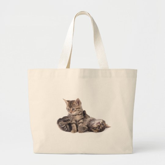 Grand Tote Bag tabby kittens playing