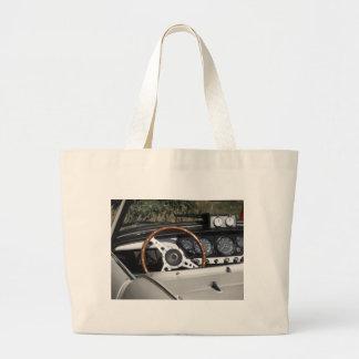 Grand Tote Bag Tableau de bord d'une vieille voiture classique
