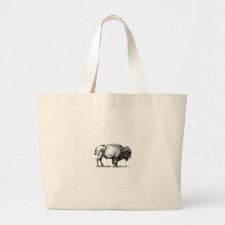 Grand Tote Bag taureau costaud de buffle