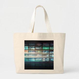 Grand Tote Bag Technologie futuriste avec le futur abrégé sur