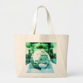Grand Tote Bag Technologie futuriste de la Science comme art de