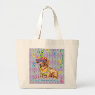 Grand Tote Bag Teckel de mardi gras