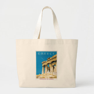 Grand Tote Bag Temple vintage de parthenon d'Athènes Grèce de