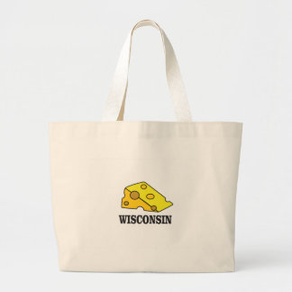 Grand Tote Bag Tête de fromage du Wisconsin