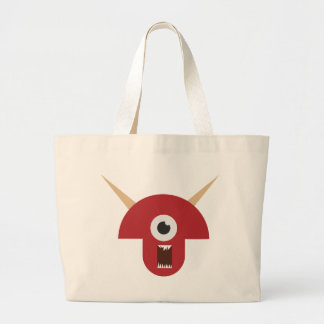 Grand Tote Bag Tête mauvaise de monstre