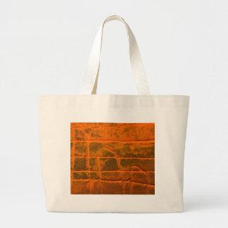 Grand Tote Bag Texture orange patinée
