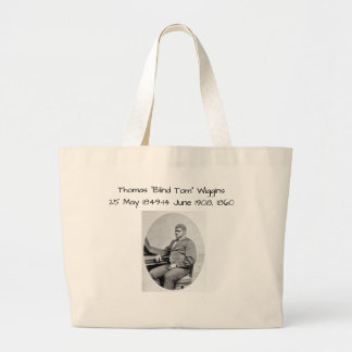 "Grand Tote Bag Thomas ""Tom aveugle"" Wiggins, 1860"